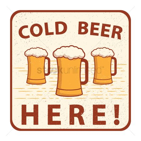 Liquor : Cold beer sign