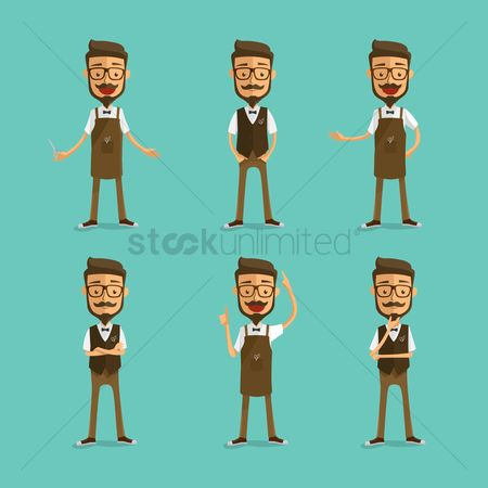 Character : Collection of a barber s gestures