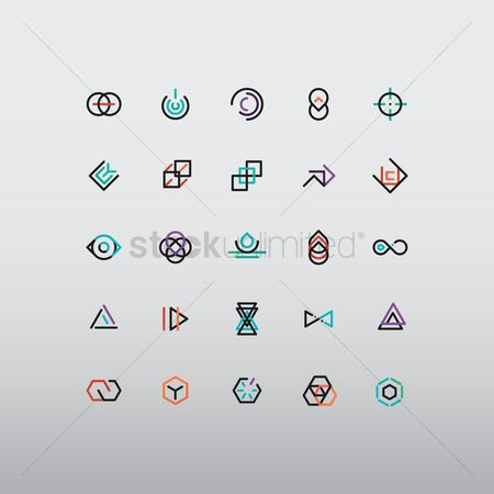 Logo : Collection of abstract design icons