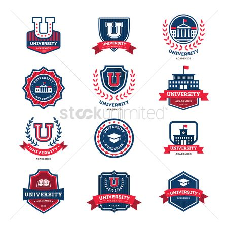 Educational banner : Collection of academic badge designs