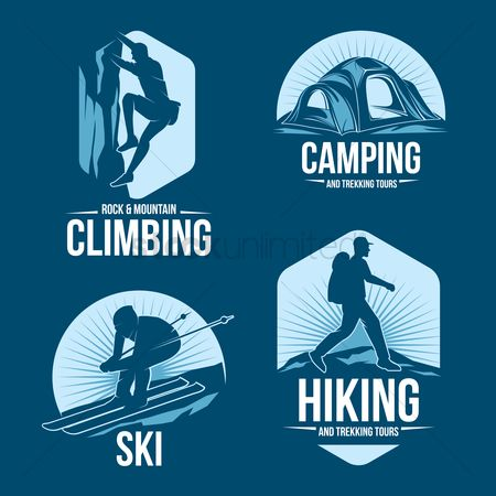 Sports : Collection of adventure icons