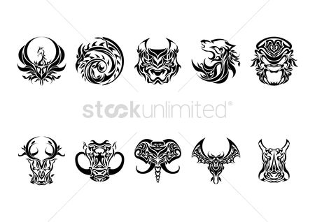 Hawks : Collection of animal tattoo design