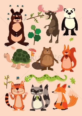 Character : Collection of animals