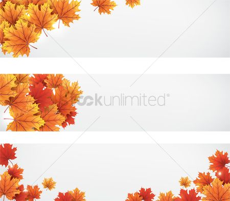 Falling : Collection of autumn themed banners