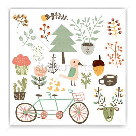 Transport : Collection of autumn themed designs