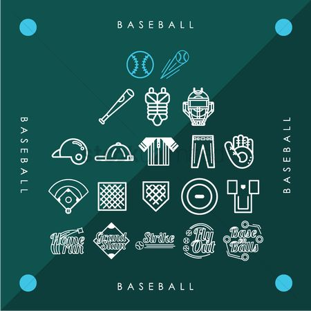 Recreation : Collection of baseball icons