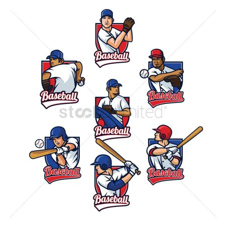 Baseball : Collection of baseball player labels