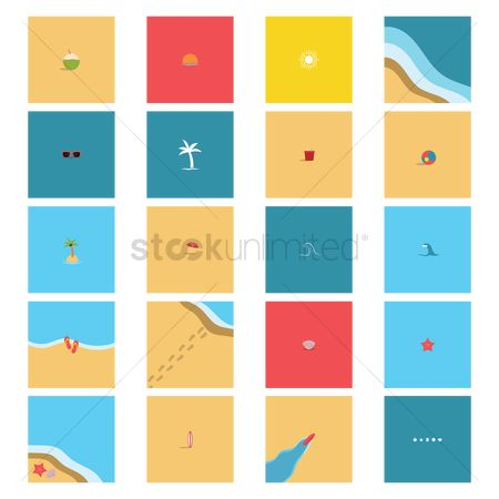 Minimalist : Collection of beach items
