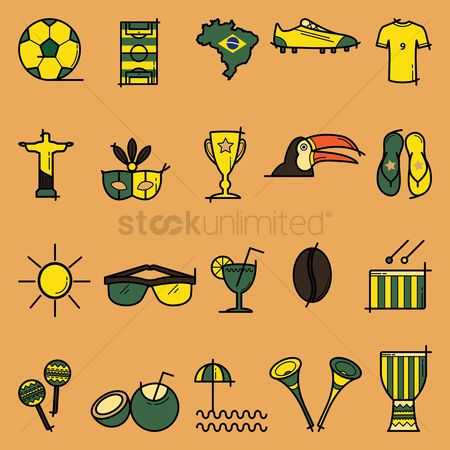 Toco toucan : Collection of brazil general icons