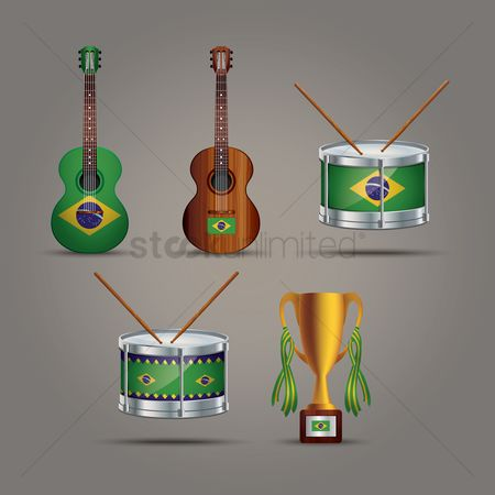 Drums : Collection of brazil icons