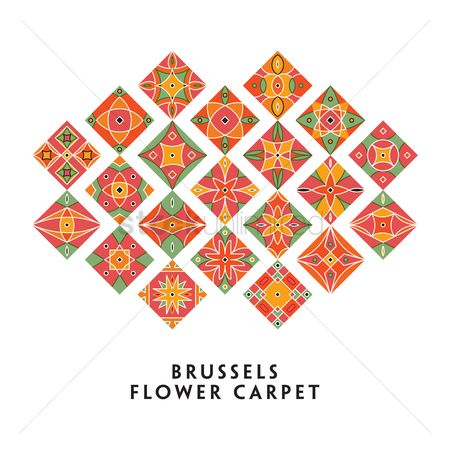 Belgium : Collection of brussels flower carpets