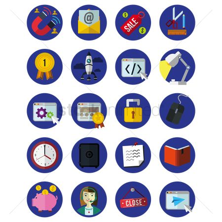 Signages : Collection of business icons