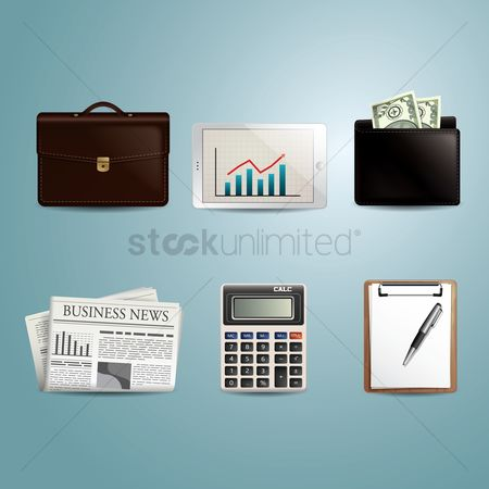 Icons news : Collection of business icons