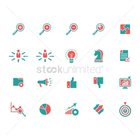Increase : Collection of business icons