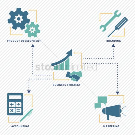 Setting : Collection of business strategy icons