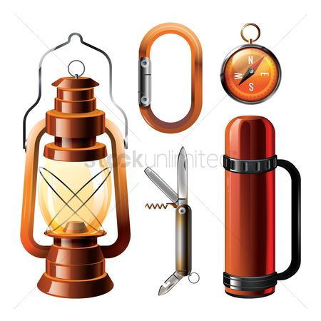 Nautical : Collection of camping equipment