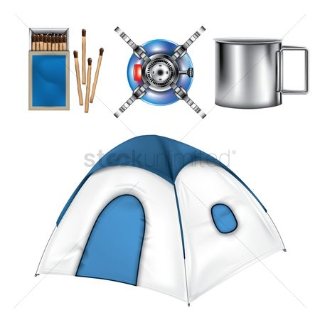 Stove : Collection of camping equipment