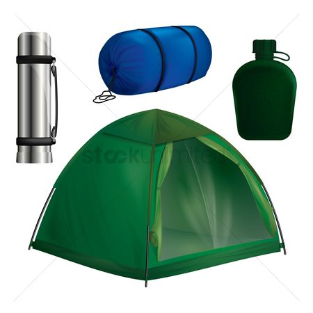 Indoor : Collection of camping equipment
