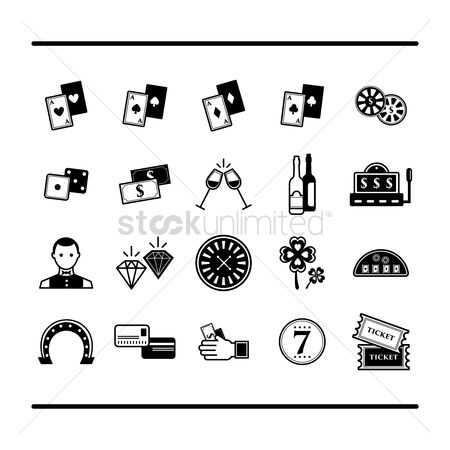 Champagnes : Collection of casino icons