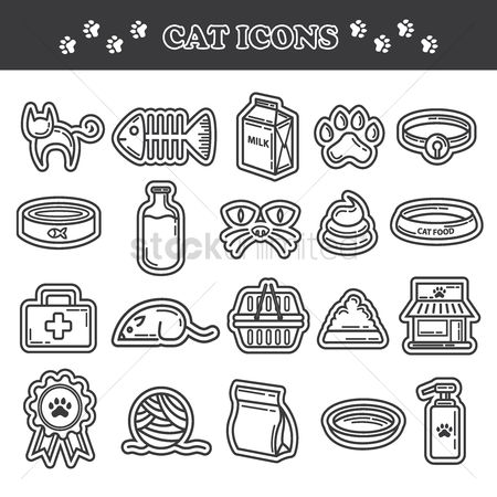 Medicines : Collection of cat icons
