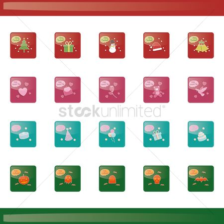 Jingle bells : Collection of celebration button