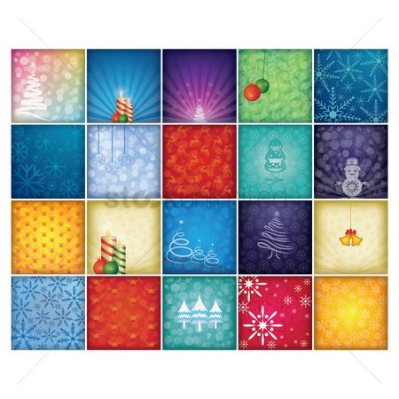 Festival : Collection of christmas background design