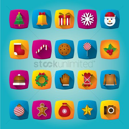 Biscuit : Collection of christmas icons