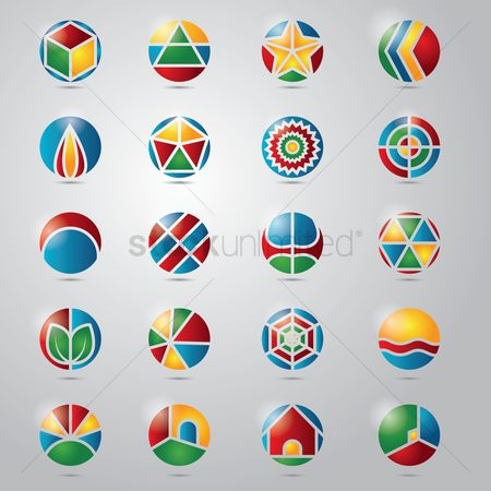 Geometrics : Collection of circular icon designs
