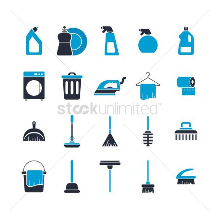 Appliances : Collection of cleaning icons