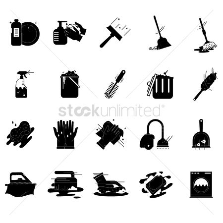 Broom : Collection of cleaning tools