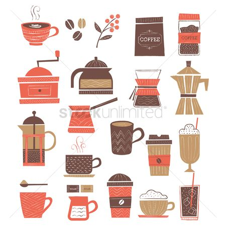 Aroma : Collection of coffee items