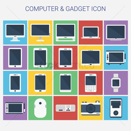 Wireless : Collection of computer and gadget icons