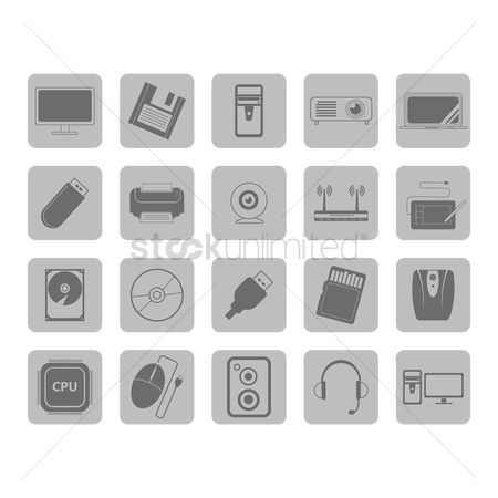 Routers : Collection of computer icons