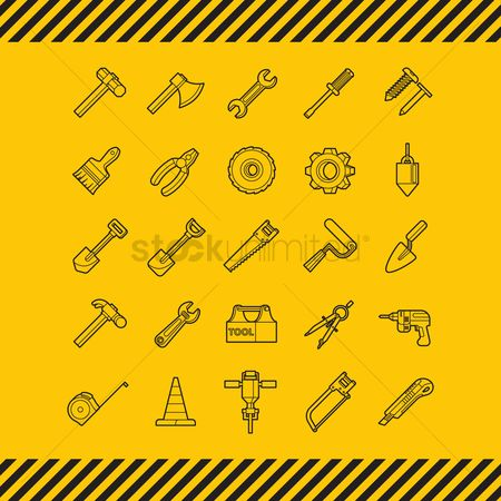 Spanner : Collection of construction icons