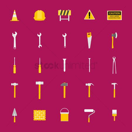 Roller : Collection of construction icons