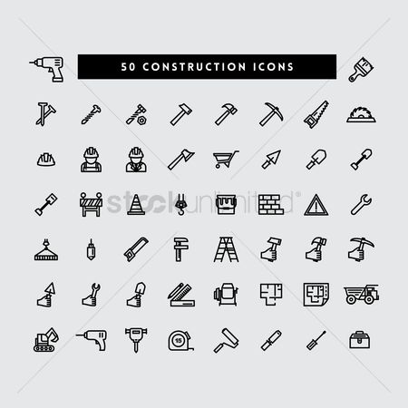 Constructions : Collection of construction icons