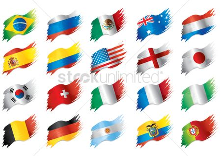 Flag : Collection of country flags