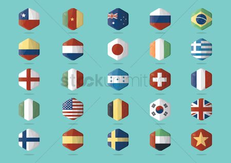 Belgium : Collection of country flags