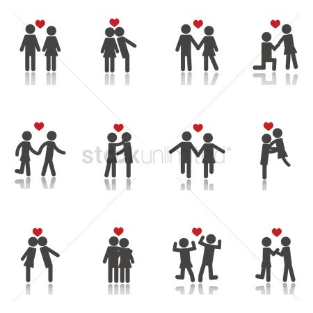 Dancing : Collection of couple icons