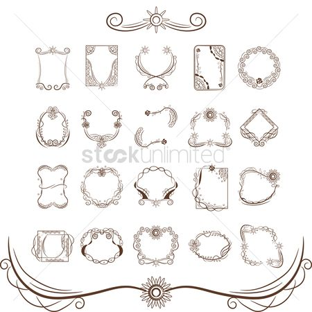 Classic : Collection of decorative frame