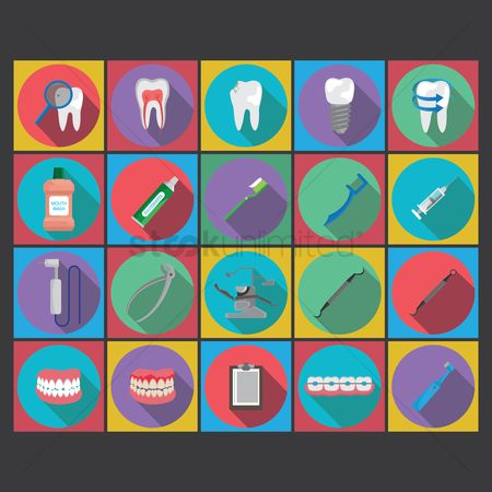 Dentist : Collection of dental icons