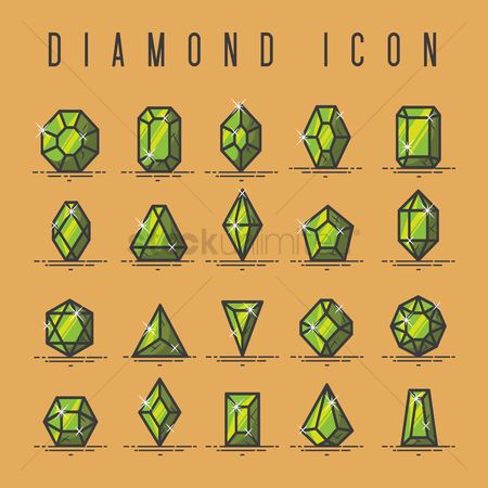Shine : Collection of diamond icons