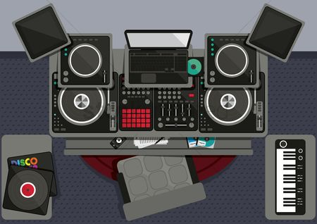 Dj : Collection of dj musical equipments