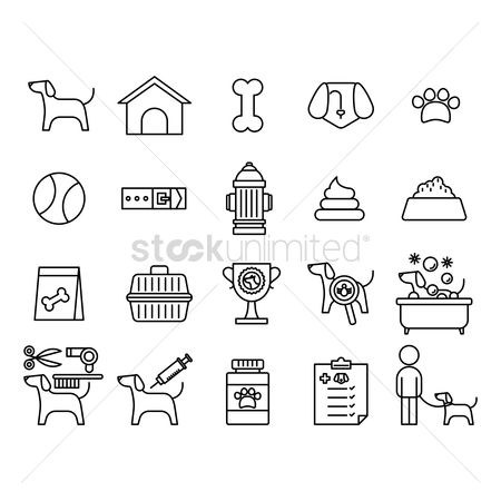 Magnifying : Collection of dog icons