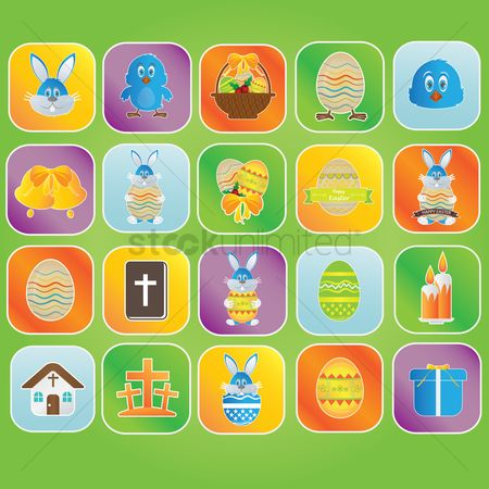 Jingle bells : Collection of easter icons
