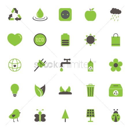 Water drops : Collection of eco icons