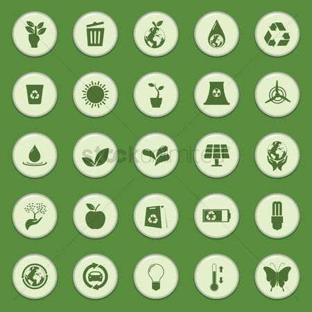 Power button : Collection of eco icons