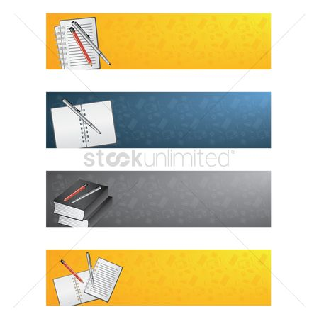 Supply : Collection of education banners