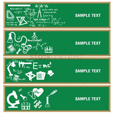 Formulas : Collection of educational banners