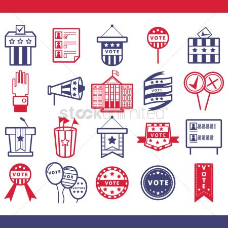 White house : Collection of election icons